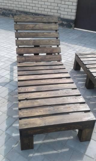 Шезлонг - лежак из дерева 5