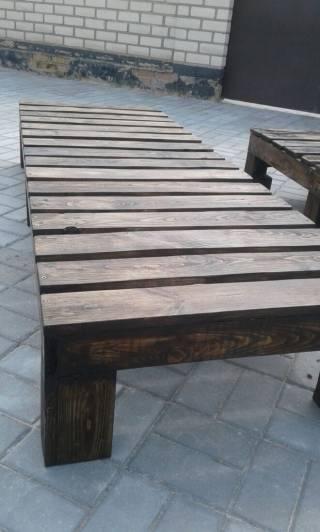 Шезлонг - лежак из дерева 9