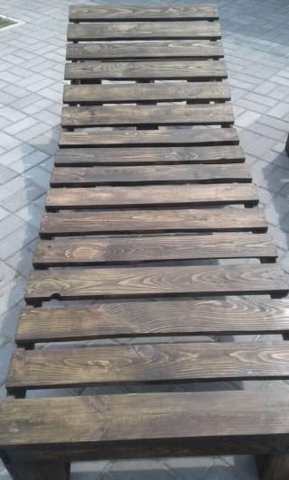 Шезлонг - лежак из дерева 4