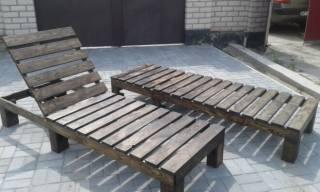 Шезлонг - лежак из дерева 6