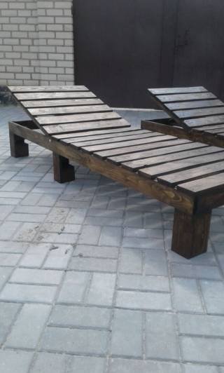 Шезлонг - лежак из дерева 2
