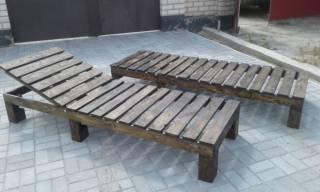 Шезлонг - лежак из дерева