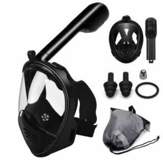 Полнолицевая панорамная маска для плавания FREE BREATH (X/XL) Black 2