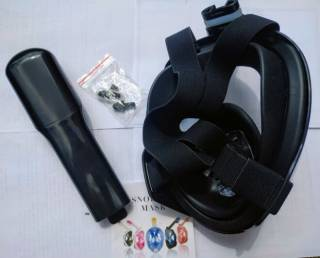 Полнолицевая панорамная маска для плавания FREE BREATH (X/XL) Black 5