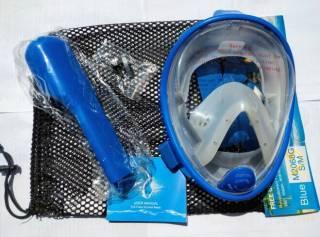 Детская полнолицевая панорамная маска FREE BREATH (XS)  Blue 3