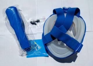 Детская полнолицевая панорамная маска FREE BREATH (XS)  Blue 6