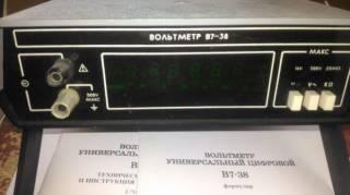 Вольтметр универсальный цифровой В7-38 3