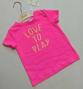 Розовая футболка с сердечками Fagottino р. 18-24 (86)