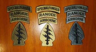 Нашивка (шеврон) US Army (США - USA) Airborne, Special Force, Rangers 6