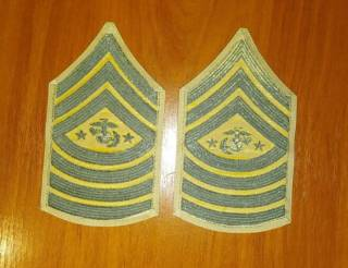 Нашивка (шеврон) US Army, USAF, USMC (США - USA) - звания 4