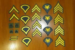 Нашивка (шеврон) US Army, USAF, USMC (США - USA) - звания