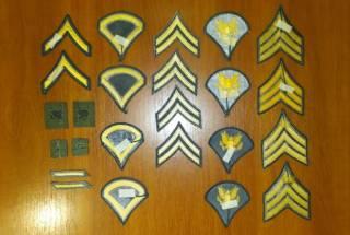 Нашивка (шеврон) US Army, USAF, USMC (США - USA) - звания 2
