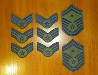 Нашивка (шеврон) US Army, USAF, USMC (США - USA) - звания 5