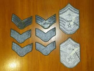 Нашивка (шеврон) US Army, USAF, USMC (США - USA) - звания 6