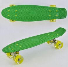 Скейт (пенни борд) Penny Board светящиеся колеса, зеленый, 55-14,5 см