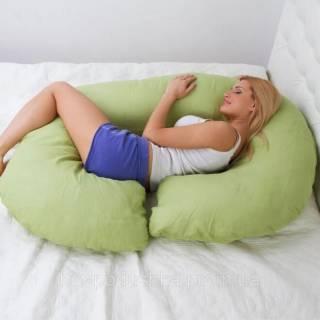 """С образная подушка для беременных и кормления """"Рогалик"""" тм БиоПодушка 2"""