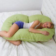 """С образная подушка для беременных и кормления """"Рогалик"""" тм БиоПодушка 3"""