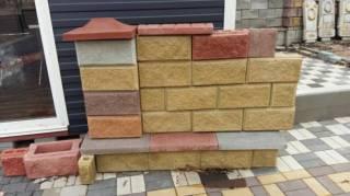 Декоративный Блок под Рваный Камень,390*190*90;390*190*100;390*190*200 6
