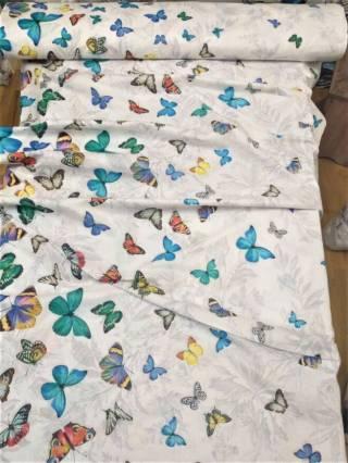 Бабочки 3д - натуральное постельное белье из перкаля 5