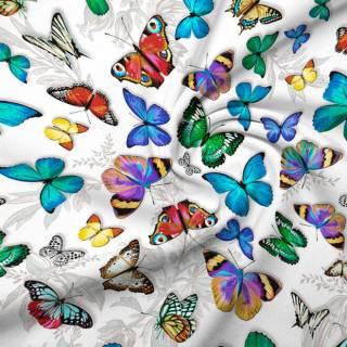 Бабочки 3д - натуральное постельное белье из перкаля 2