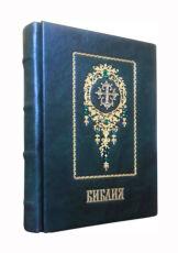 Библия подарочная в кожаном переплете настольная карманная 4