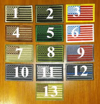 Пришивная нашивка (шеврон) - флаг США (Flag USA) US Army (левый) 4