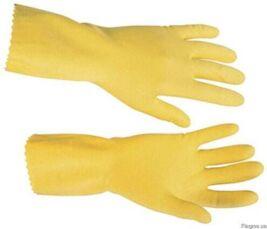 Перчатки хозяйственные латексные разноцветные