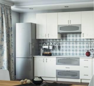 Кухня Импульс белая матовая 2,0