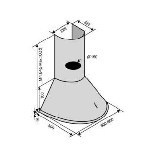 Кухонна купольна витяжка Ventolux Capri 60 inox 800 вытяжка кухонная 3