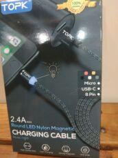 Магнитный шнур переходник USB юсб микро USB 8 pin с подсветкой