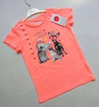 Коралловая футболка с собачками Cool Club р. 140