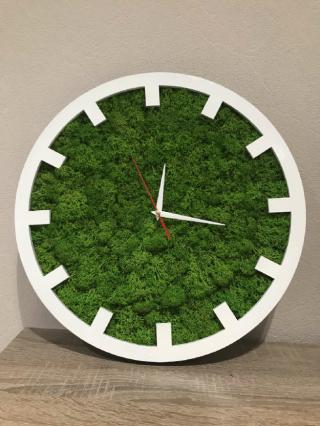 Часы из Мха. Настенные часы из натурального Норвежского мха!