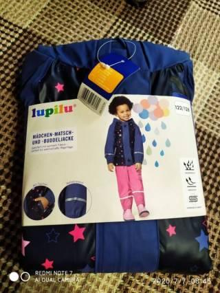 Куртка дождевик утепленная лупилу lupilu 6