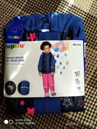 Куртка дождевик утепленная лупилу lupilu 7