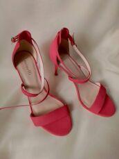 Шкіряні коралово-рожеві босоніжки (39/25 см) 3