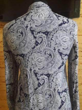 Платье-рубашка вискоза бело-синий огурец Oodji 5