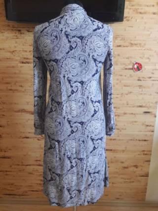 Платье-рубашка вискоза бело-синий огурец Oodji 4