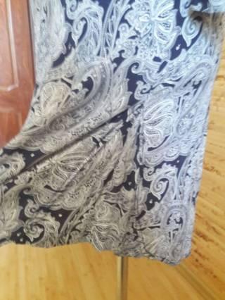 Платье-рубашка вискоза бело-синий огурец Oodji 6