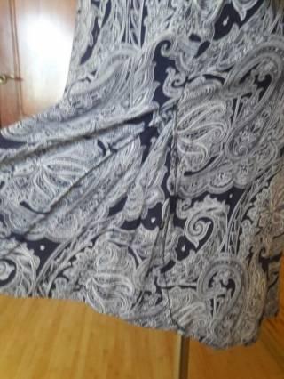 Платье-рубашка вискоза бело-синий огурец Oodji 7