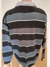 Модный свитер в полоску со встроченным рубашечным воротником р52 2