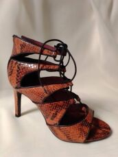 Шкіряні босоніжки зі зміїним принтом Andre 2