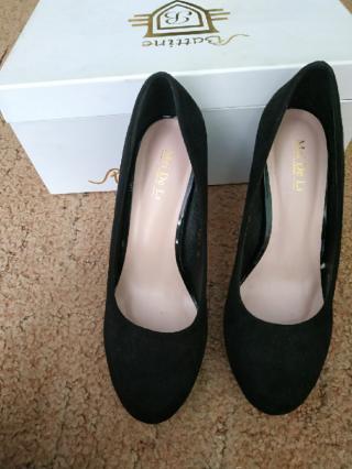 Туфли замшевые на каблуке 10 см устойчивый