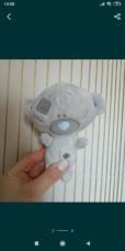 Красивый подарок мишка Тедди голубой нос me to you 2