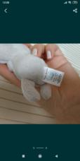 Красивый подарок мишка Тедди голубой нос me to you 5