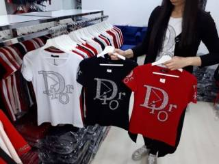 Футболка Турция Dior  чёрная красная