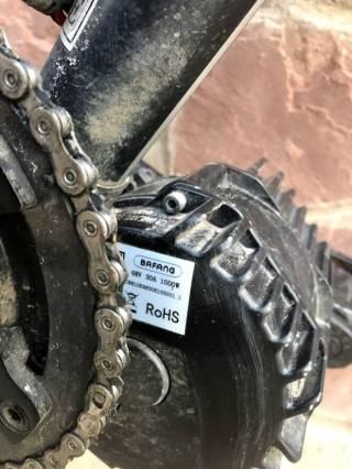 Електровелосипед з двигуном міддрайв 1000Ват, SLX, Rock Shox 9