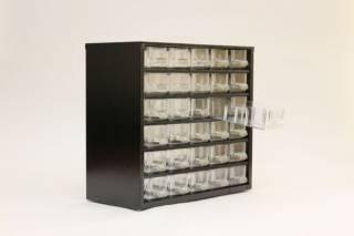 Органайзер К30 чёрный, кассетница, сортовик, ящик, ячейка для мелочей