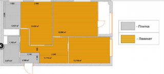 Продам 3к квартиру в новостройке на подстанции 4