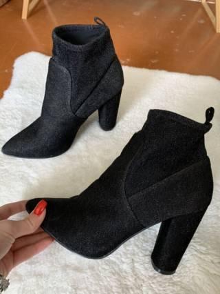 Ботинки лодочки с люрексом на каблуке 6