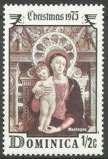 Продам марки Доминики 1975 Рождество